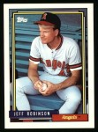 1992 Topps #137  Jeff D. Robinson  Front Thumbnail