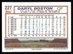 1992 Topps #227  Daryl Boston  Back Thumbnail