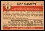 1953 Bowman #81  Enos Slaughter  Back Thumbnail