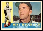 1960 Topps #530  Mike McCormick  Front Thumbnail