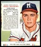 1954 Red Man #23 NL Eddie Mathews  Front Thumbnail
