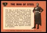 1966 Topps Superman #7   The Man of Steel Back Thumbnail