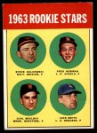 1963 Topps #496   -  Jack Smith / Carl Bouldin / Steve Dalkowski / Fred Newman Rookie Stars   Front Thumbnail