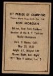 1952 Berk Ross  Tom Morgan  Back Thumbnail