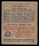 1949 Bowman #184  Bob Chipman  Back Thumbnail