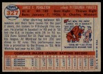 1957 Topps #327  Jim Pendleton  Back Thumbnail
