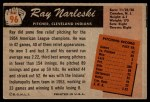 1955 Bowman #96  Ray Narleski  Back Thumbnail