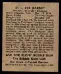 1948 Bowman #41  Rex Barney  Back Thumbnail