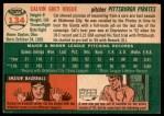 1954 Topps #134  Cal Hogue  Back Thumbnail