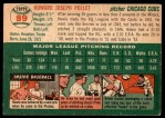 1954 Topps #89  Howie Pollet  Back Thumbnail