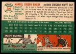 1954 Topps #34  Jim Rivera  Back Thumbnail