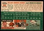 1954 Topps #86  Billy Herman  Back Thumbnail
