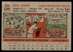 1956 Topps #120 GRY Richie Ashburn  Back Thumbnail