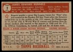 1952 Topps #2  Pete Runnels  Back Thumbnail