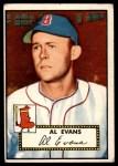 1952 Topps #152 CRM Al Evans  Front Thumbnail