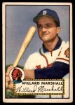 1952 Topps #96  Willard Marshall  Front Thumbnail