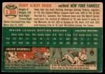 1954 Topps #130  Hank Bauer  Back Thumbnail