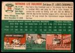 1954 Topps #26  Ray Jablonski  Back Thumbnail