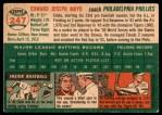 1954 Topps #247  Eddie Mayo  Back Thumbnail