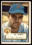 1952 Topps #244  Vic Wertz  Front Thumbnail