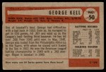 1954 Bowman #50  George Kell  Back Thumbnail