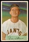 1954 Bowman #9  Davey Williams  Front Thumbnail