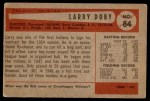 1954 Bowman #84  Larry Doby  Back Thumbnail