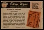 1955 Bowman #38  Early Wynn  Back Thumbnail
