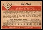 1953 Bowman #34  Gil Coan  Back Thumbnail