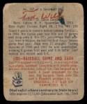 1949 Bowman #137  Ted Wilks  Back Thumbnail