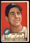 1952 Topps #116 xBRK Carl Scheib  Front Thumbnail