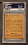 1940 Play Ball #104  Paul Waner  Back Thumbnail