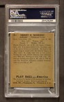 1939 Play Ball #94  Heinie Manush  Back Thumbnail