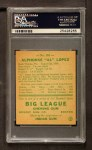 1938 Goudey Heads Up #281  Al Lopez  Back Thumbnail