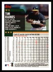 2000 Topps #71  Tim Raines  Back Thumbnail