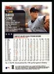 2000 Topps #138  David Cone  Back Thumbnail