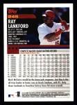 2000 Topps #245  Ray Lankford  Back Thumbnail