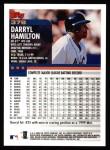 2000 Topps #378  Darryl Hamilton  Back Thumbnail