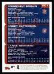 2000 Topps #207   -  Lance Berkman / Corey Patterson Draft Picks Back Thumbnail