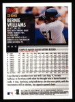 2000 Topps #396  Bernie Williams  Back Thumbnail