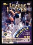 2000 Topps #462   -  Ken Griffey Jr. / Mark McGwire League Leaders Back Thumbnail