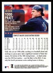 2000 Topps #434  Todd Pratt  Back Thumbnail