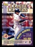 2000 Topps #463   -  Manny Ramirez / Mark McGwire League Leaders Back Thumbnail