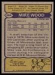 1979 Topps #464  Mike Wood  Back Thumbnail