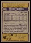 1979 Topps #342  Andre Tillman  Back Thumbnail