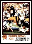 1979 Topps #168   Super Bowl XIII Front Thumbnail
