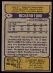 1979 Topps #41  Richard Todd  Back Thumbnail