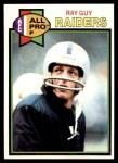 1979 Topps #50  Ray Guy  Front Thumbnail