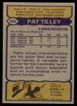 1979 Topps #102  Pat Tilley  Back Thumbnail