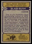 1979 Topps #245  Blair Bush  Back Thumbnail